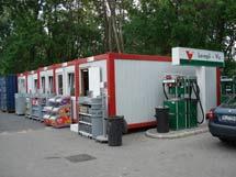 Магазин от контейнери на бензиностанции MOL